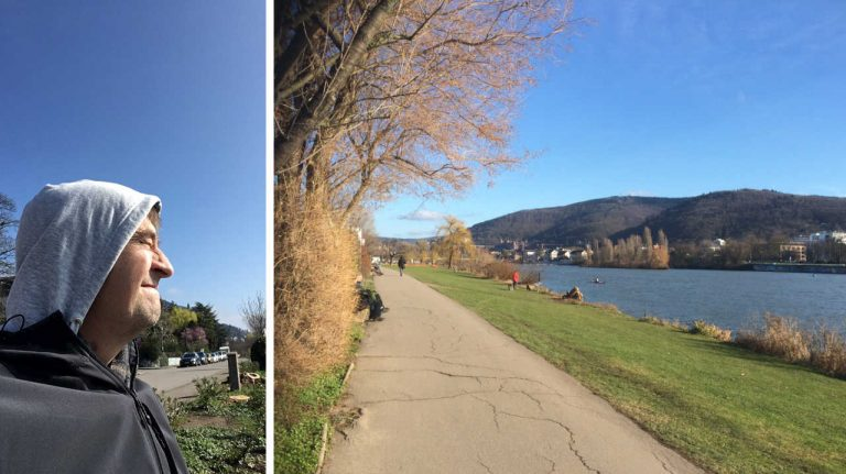 Lange Spaziergänge an der Heidelberger Neckarwiese haben mich vom Klinikalltag abgelenkt. Hier habe ich Ruhe gefunden und neue Kraft geschöpft.